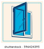 vector plastic window icon | Shutterstock .eps vector #596424395