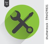 tools flat icon. simple sign of ... | Shutterstock .eps vector #596429831