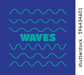 waves outline icon  modern... | Shutterstock .eps vector #596434601