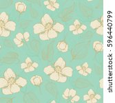 beautiful seamless pattern with ... | Shutterstock .eps vector #596440799