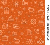 vector seamless pattern with... | Shutterstock .eps vector #596444219