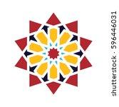 islamic pattern. vector... | Shutterstock .eps vector #596446031