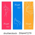 vertical banners for spa and...   Shutterstock .eps vector #596447279