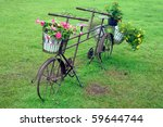 old  bicycle with a flower pot . | Shutterstock . vector #59644744