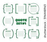quotes and brackets speech... | Shutterstock .eps vector #596448965