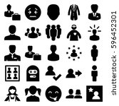 avatar icons set. set of 25... | Shutterstock .eps vector #596452301