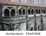 portugal  cloister of alcobaca... | Shutterstock . vector #59645308