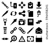 interface icons set. set of 25... | Shutterstock .eps vector #596458241