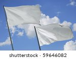 two white flags waving on the... | Shutterstock . vector #59646082