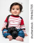 indian baby boy photographer or ... | Shutterstock . vector #596462705
