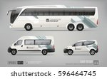 hi detailed transport mockup of ... | Shutterstock .eps vector #596464745
