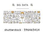 line concept for big data.... | Shutterstock . vector #596465414