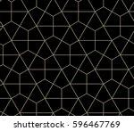 Stock vector seamless geometric pattern simple flat vector illustration lined geometric black seamless pattern 596467769