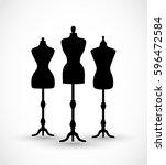 mannequin set vector | Shutterstock .eps vector #596472584