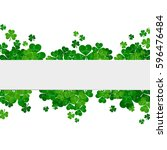 saint patrick's day frame with... | Shutterstock . vector #596476484