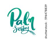 palm leaf texture with text ... | Shutterstock .eps vector #596478839