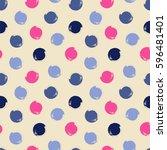 simple seamless vector pattern... | Shutterstock .eps vector #596481401