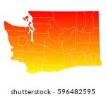 map of washington   Shutterstock .eps vector #596482595