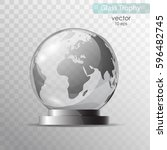glass globe on a stand.... | Shutterstock .eps vector #596482745