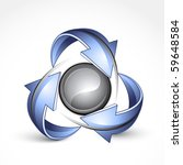 abstract sphere with arrows.... | Shutterstock .eps vector #59648584