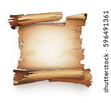 paper scroll  old ancient... | Shutterstock .eps vector #596491361