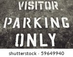 Visitor Parking Only Sign