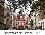 a street in mayfair  london... | Shutterstock . vector #596501714