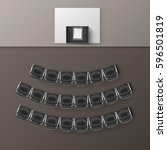 vector audience auditorium... | Shutterstock .eps vector #596501819