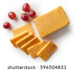 Cheddar Cheese Isolated On...