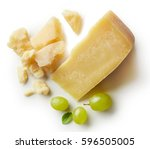 parmesan cheese and grapes...   Shutterstock . vector #596505005