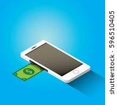 vector digital mobile wallet... | Shutterstock .eps vector #596510405