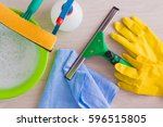 professional window washing... | Shutterstock . vector #596515805