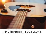 photography classical guitar on ... | Shutterstock . vector #596516045