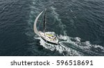 sailing. sailing yacht race.... | Shutterstock . vector #596518691