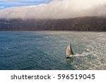 sailing. sailing yacht race.... | Shutterstock . vector #596519045