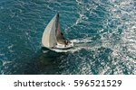 sailing yacht race. yachting.... | Shutterstock . vector #596521529