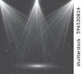 white glowing light burst...   Shutterstock .eps vector #596530814