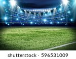 football pitch with green grass ... | Shutterstock . vector #596531009