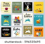 easter greetings illustration | Shutterstock .eps vector #596535695