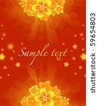 glowing red  summer background... | Shutterstock .eps vector #59654803