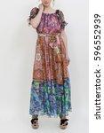 dress | Shutterstock . vector #596552939