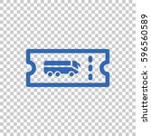 ticket icon flat . | Shutterstock .eps vector #596560589