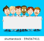 illustration of multiethnic... | Shutterstock .eps vector #596567411