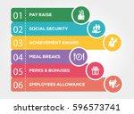 employee benefits infographic... | Shutterstock .eps vector #596573741