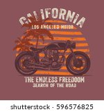 california race and motorcycle... | Shutterstock .eps vector #596576825