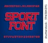 sport alphabet vector font.... | Shutterstock .eps vector #596584391