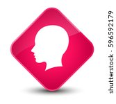 head female face icon isolated... | Shutterstock . vector #596592179