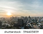 wonderful sunset view of... | Shutterstock . vector #596605859