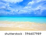 Beautiful White Sand Beach And...