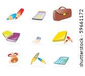 set of school vector icons | Shutterstock .eps vector #59661172